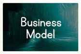 Business model concept — Stockfoto