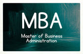 Master of business administration concept — Stockfoto