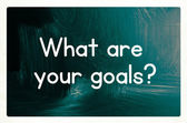 What are your goals concept — Stock Photo