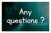 Any questions concept — Zdjęcie stockowe