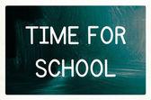 Tiempo para el concepto de escuela — Foto de Stock