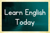 Learn english today — Stock Photo