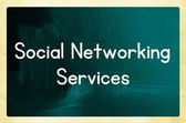 Social networking services — Stock Photo