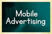 Mobile advertising concept — Stock Photo