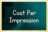 Costo por impresión — Foto de Stock