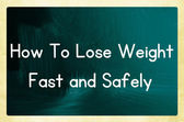 How to lose weight fast and safely — Stock Photo