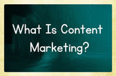 What is content marketing? — Stock Photo