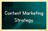 Content marketing strategy — Stock Photo