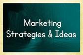 Marketing strategies & ideas — Stock Photo