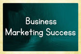 Business marketing success — Stock Photo
