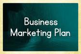 Business marketing plan — Stock Photo