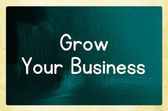 Grow your business concept — ストック写真