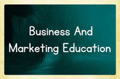Business and marketing education — Foto de Stock
