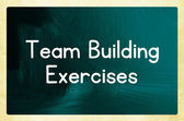Team building exercises — Stock Photo