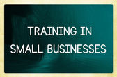 Training in small businesses — Stock Photo