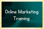 Online marketing training — Stock Photo