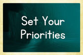 Set your priorities — Stock Photo