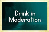 Drink in moderation — Stock Photo