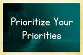 Prioritize your priorities — Stock Photo