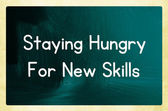 Staying hungry for new skills — Photo