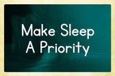 Make sleep a priority — Stock Photo