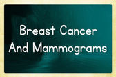 Breast cancer and mammograms — Stock Photo