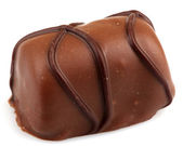 čokoládové lanýže izolovaných na bílém pozadí — Stock fotografie