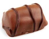 Chocolate Truffles Isolated On White Background — Stock Photo