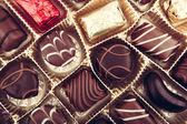Delicious Chocolate Pralines — Stock Photo