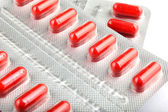 Red Medical Capsules — Foto Stock