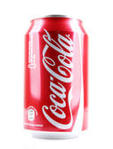 AYTOS, BULGARIA - JANUARY 23, 2014: Coca-Cola bottle can isolate — Stock Photo