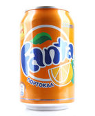 AYTOS, BULGARIA - JANUARY 23, 2014: Fanta bottle can isolated on — Stock Photo