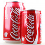 AYTOS, BULGARIA - JANUARY 25, 2014: Coca-Cola bottle can isolate — Stock Photo