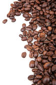 Coffee Beans Isolated On White — Stock Photo