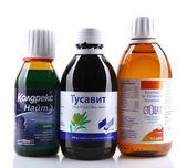 Aytos, bulgaristan - 28 ocak 2014: cam bot ilaç likit — Stok fotoğraf
