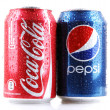 AYTOS, BULGARIA - FEBRUARI 01, 2014: Photo of a Coca-Cola and Pe — Stock Photo