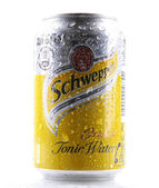 AYTOS, BULGARIA - FEBRUARI 01, 2014: Schweppes isolated on white — Stock Photo
