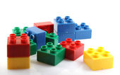 Building Blocks Isolated On White — Stock Photo