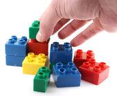 Plastic bouwstenen — Stockfoto