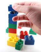 Plastic Building Blocks — Foto Stock