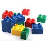 Blocos de construção de plástico — Fotografia Stock