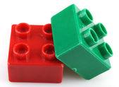Building Blocks Isolated On White — Stock Photo