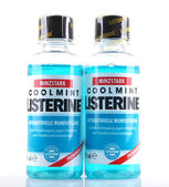 AYTOS, BULGARIA - MARCH 14, 2014: Listerine isolated on white ba — Stock Photo