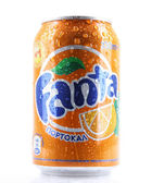 AYTOS, BULGARIA - MARCH 14, 2014: Fanta can isolated on white ba — Stock Photo
