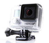 AYTOS, BULGARIA - MARCH 15, 2014: GoPro HERO3 Black Edition isolated on white background. — Stock Photo