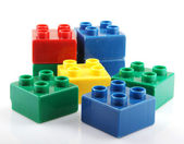 Plastic building blocks — ストック写真