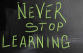 Never stop learning — Stockfoto