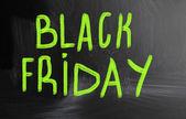 ブラックフラ イデー、黒板にチョークで手書き — ストック写真