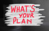 What's your plan? — Stockfoto