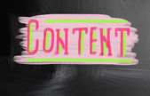 Content handwritten with chalk on a blackboard — Stockfoto
